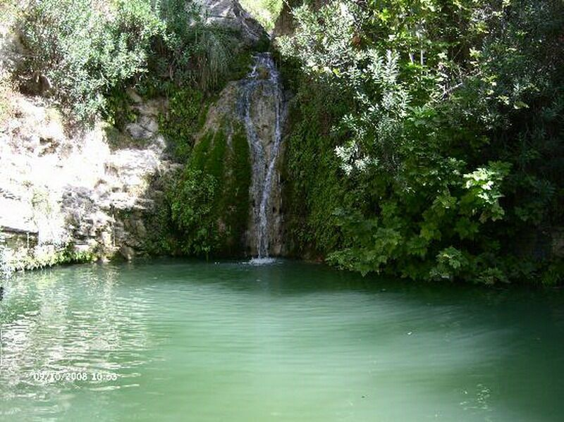 The waterfall at Adonis baths